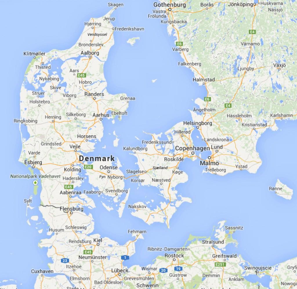 Denmark - Google Maps